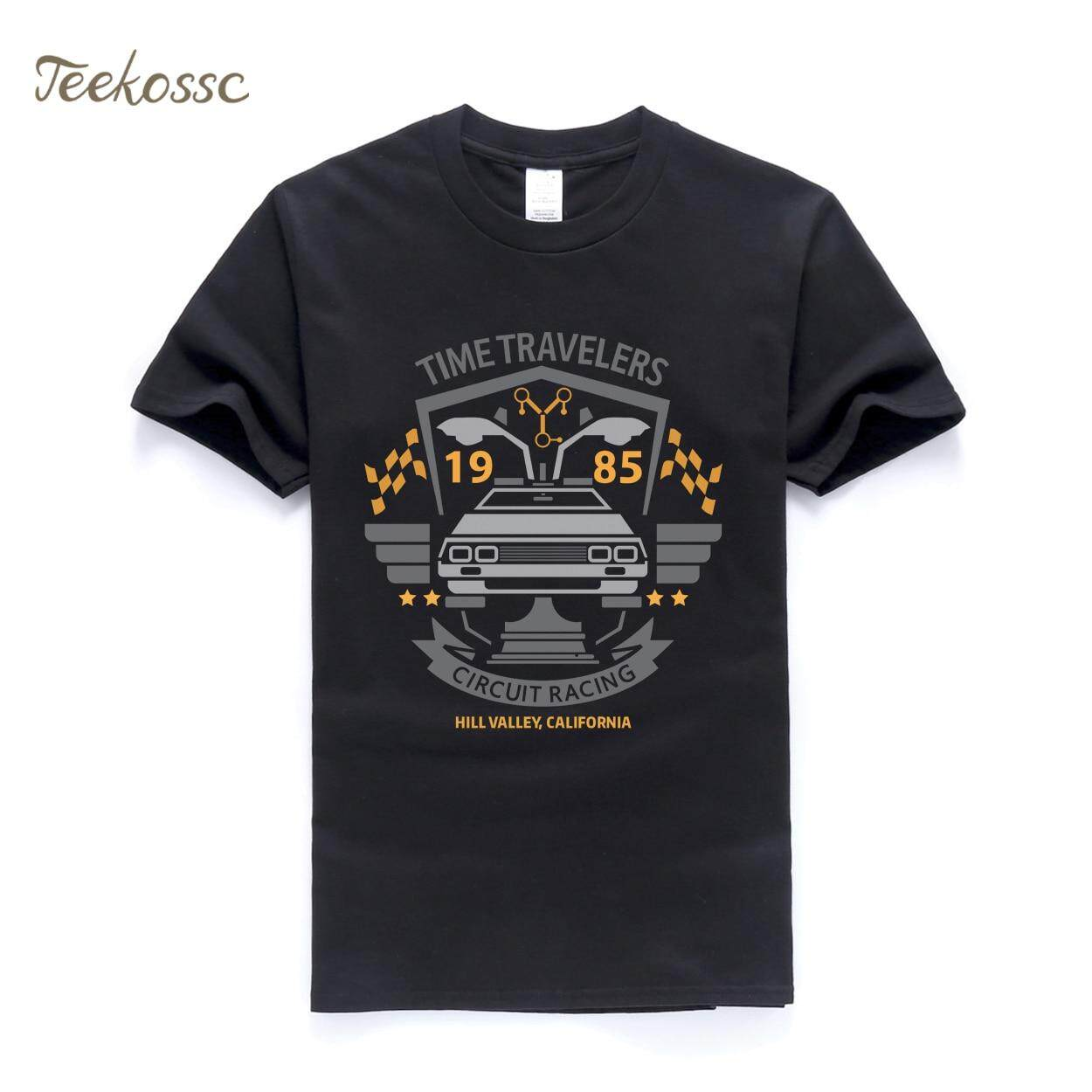 44737f07 Back to the Future T Shirt Men Classic Movie Series T Shirts Mens 2018 New  Summer