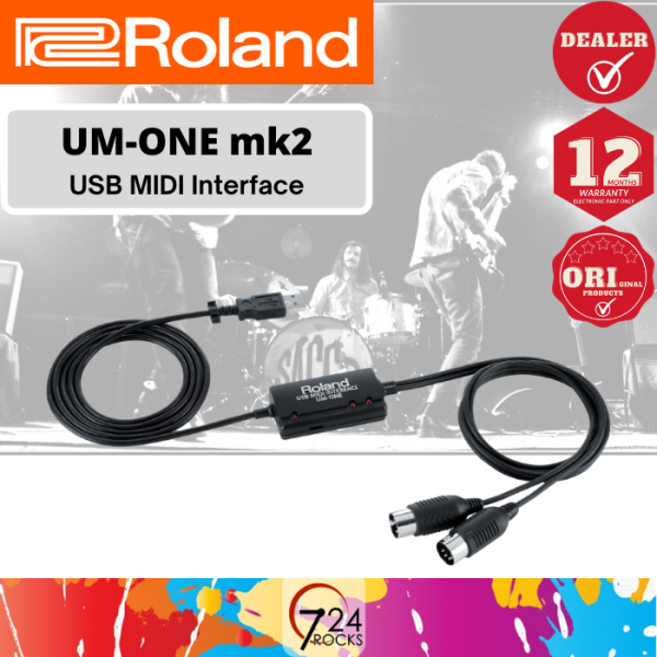 724 ROCKS Roland UM-ONE mk2 USB MIDI Interface Malaysia
