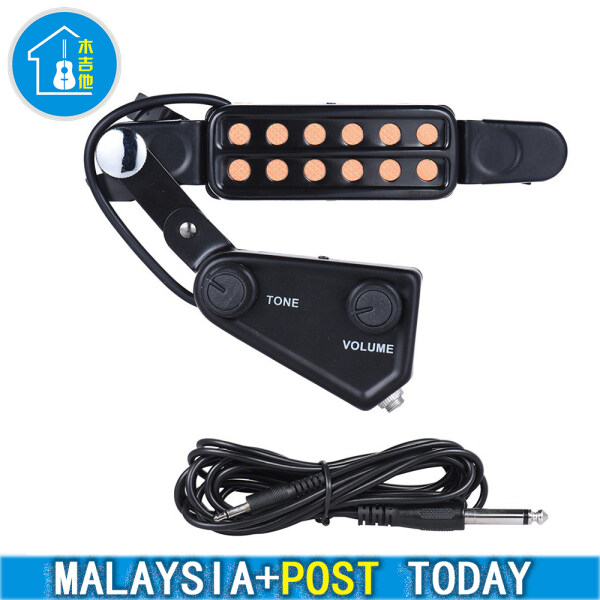 Malaysia ready stock hot sale 12-hole Acoustic Guitar Sound Hole Pickup Magnetic Transducer Malaysia