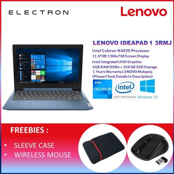 Lenovo IdeaPad 1 11IGL05 81VT003RMJ 11.6 Laptop Ice Blue ( Celeron N4020, 4GB, 256GB SSD, Intel, W10 ) Malaysia