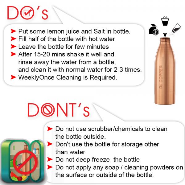 Dr. Copper Smart Pack - Copper Water Bottles 1 Litre Best 1000 ml Bottle +  Copper Glasses Set of 2 500 ml Each | Lazada