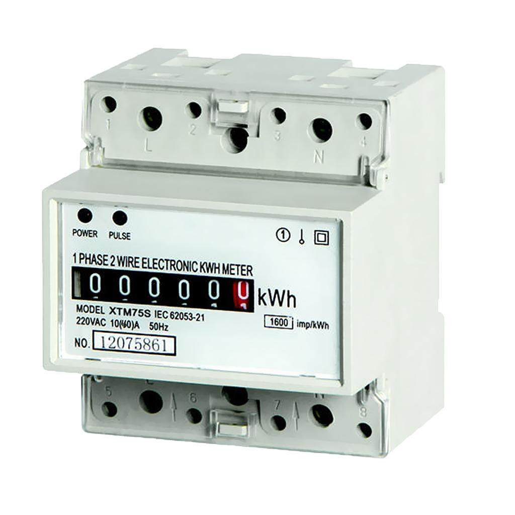 Blesiya Energy Power 10(40)A ,Electricity Din Rail Kilowatt Hour Meter Single Phase