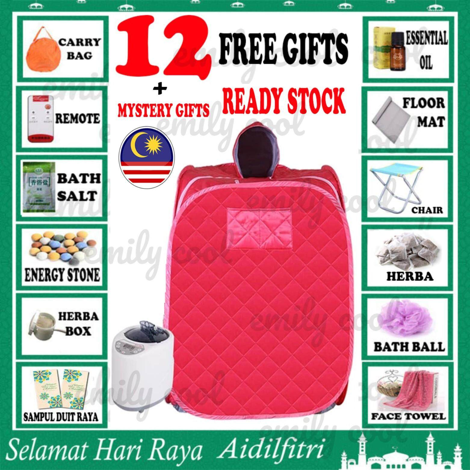 [msia] Ready Stock Rose Red Color Portable Steam Sauna Foldable Tent Personal Skin Beauty Health Slimming Rose Red Color By Emily Cool Gallery.