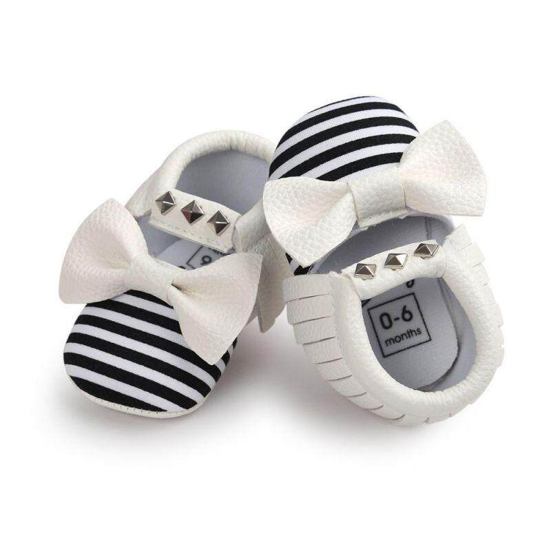 0 18m Baby Tassel Pu Leather Soft Sole Shoes Infant Crib Moccasin Js Lazada