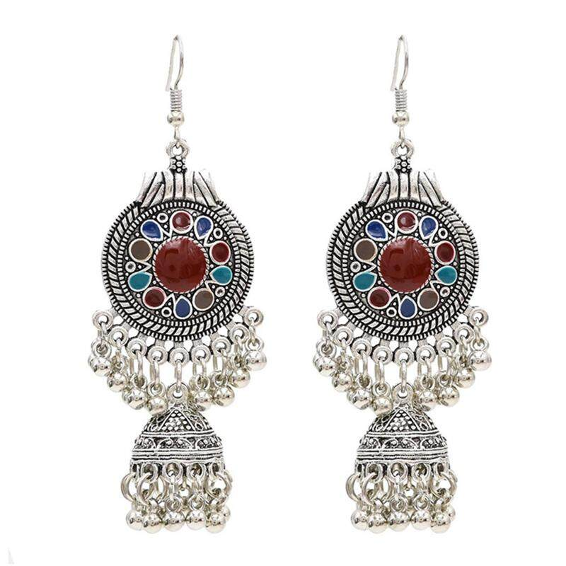 Women Exquisite Ethnic Retro Small Bell Tassel Earring By Buttbeauty.
