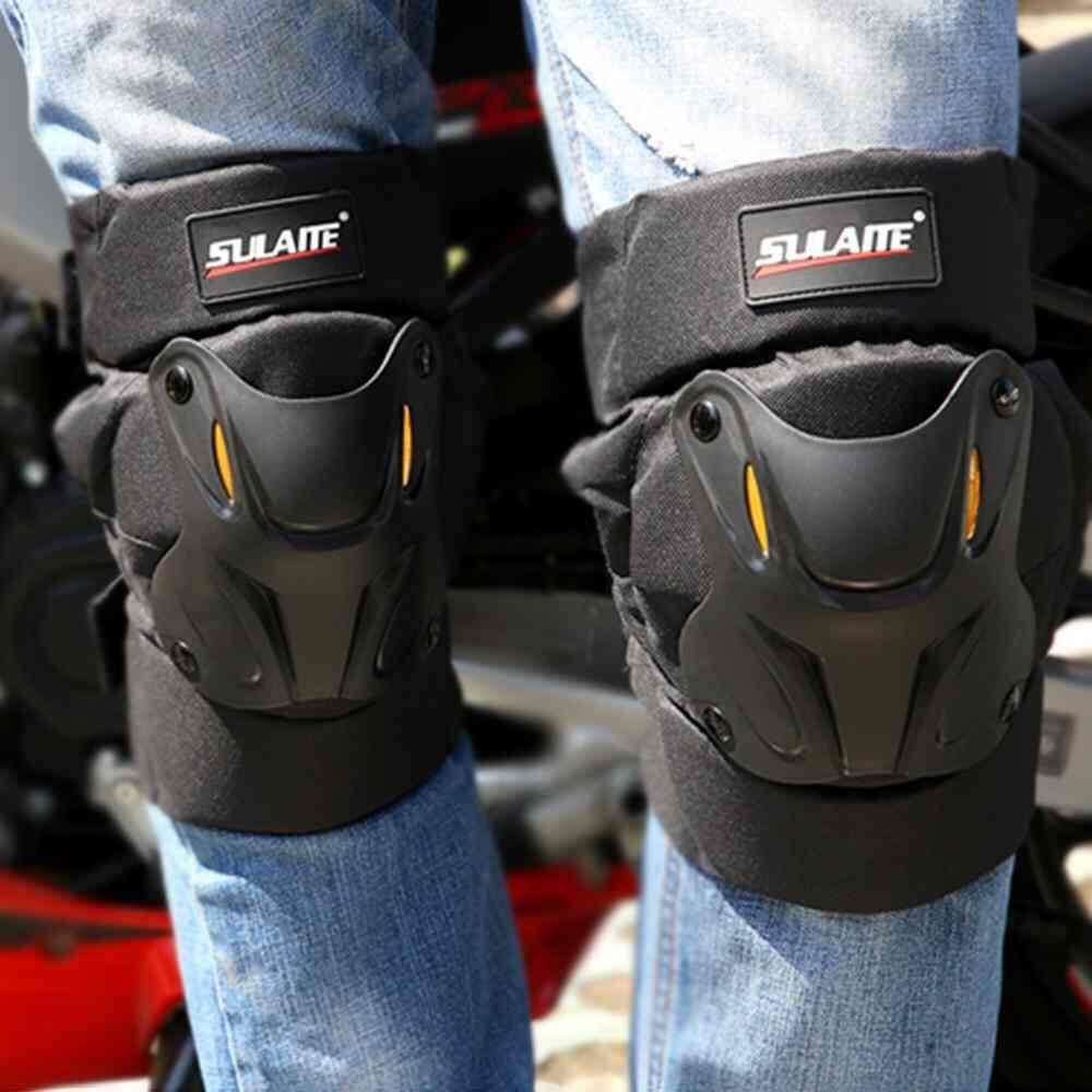 Deyln 35-45cm Motorcycle Knee Pads Guards Cuirassier Racing Off-Road Protective Kneepad Motocross Brace Protector Motorbike Protection