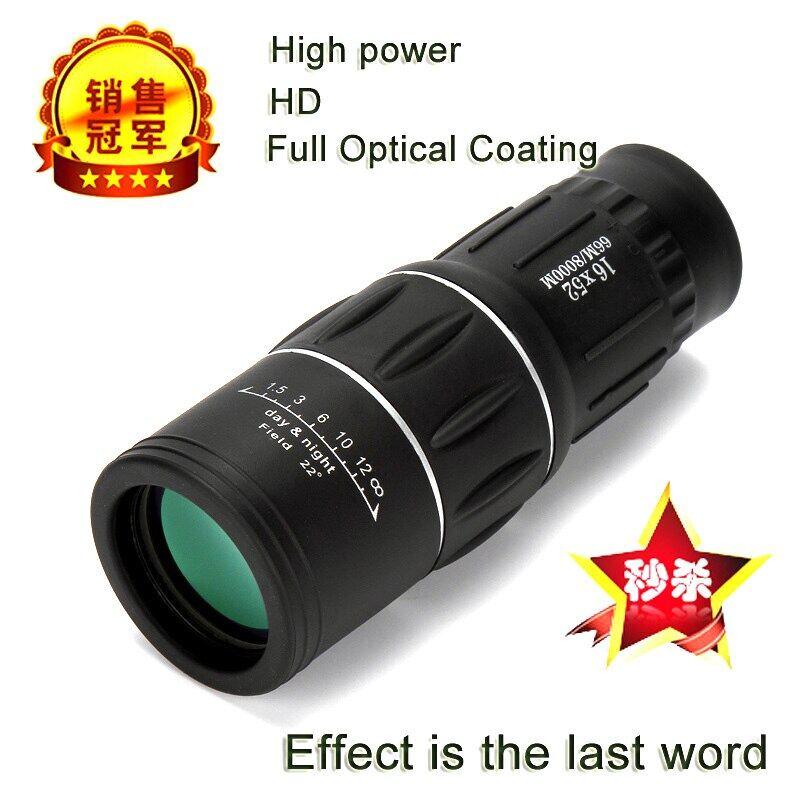 Kính Thiên Văn Một Mắt Hd Công Suất Cao, 16X52 Sniper Gương Kính Viễn Vọng Du Lịch Spyglass Lll Night Vision, Thuốc Độc Cho Du Thuyền Cắm Trại Trẻ Em