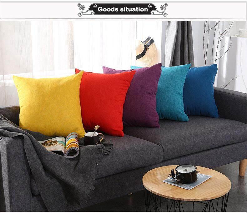 Đệm Vải Lanh Cotton Phong Cách Áo Gối + Gối Core 7 Phong Cách Màu Siêu Mềm Dày Có Thể Giặt Ghế Sofa Văn Phòng Giữ Gối Có Giá Tốt