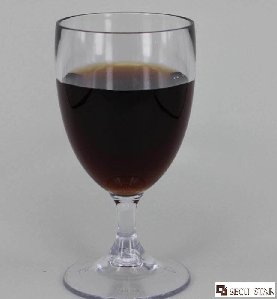 0749be1a1c0 SECU-STAR 6 Pcs/Set Transparent Plastic Wine Glasses, 5 OZ Disposable PS