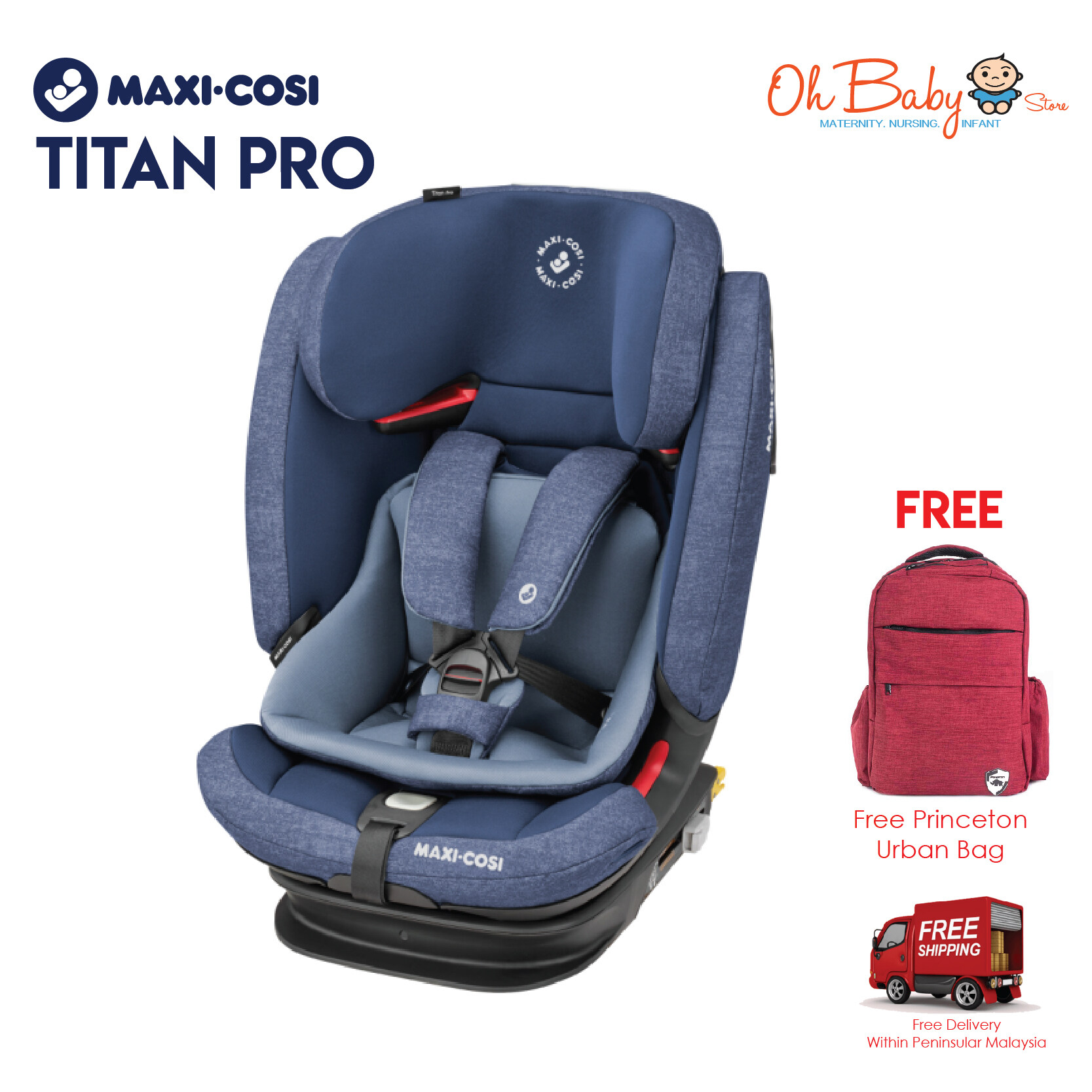 Maxi-Cosi Titan Pro Baby Car Seat from 9kg to 36kg