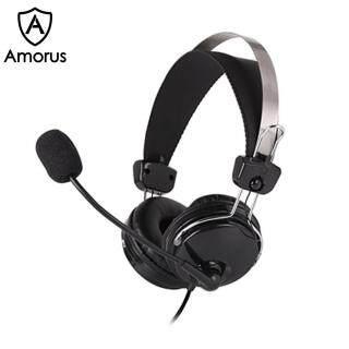 Amorus A4TECH HS-7P Micro Giảm Tiếng Ồn Trò Chơi Giảng Dạy Cuộc Gọi Bằng Giọng Nói Tai Nghe Có Dây Cho Máy Tính PC thumbnail
