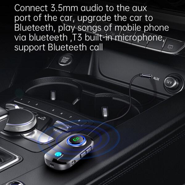 Bộ Thu Phát Bluetooth Lemonbest Xe Bluetooth Nhận, Bộ Chuyển Đổi Bluetooth Bộ Thu Phát Bluetooth 5.0 2 Trong 1 Loa Xe Hơi TV PC Bộ Chuyển Đổi Âm Thanh AUX Hifi 3.5Mm/Tai Nghe Xe Hơi/Thiết Bị Âm Thanh Nổi Gia Đình