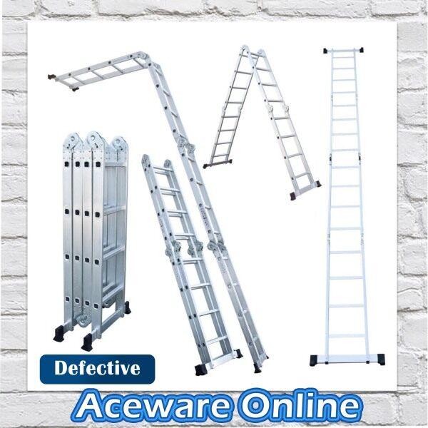 DEFECTIVE M47 16 STEP MULTIPURPOSE ALUMINIUM LADDER (Tangga Aluminium)
