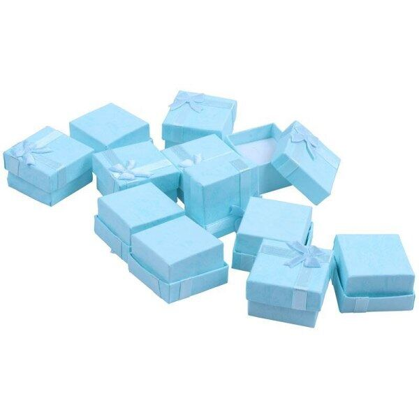 12pcs Blue Fashion Jewelry Display Cases Cube Jewelry Ring Earrings Bangle Gift Boxes Cutely Small Gift Box Malaysia