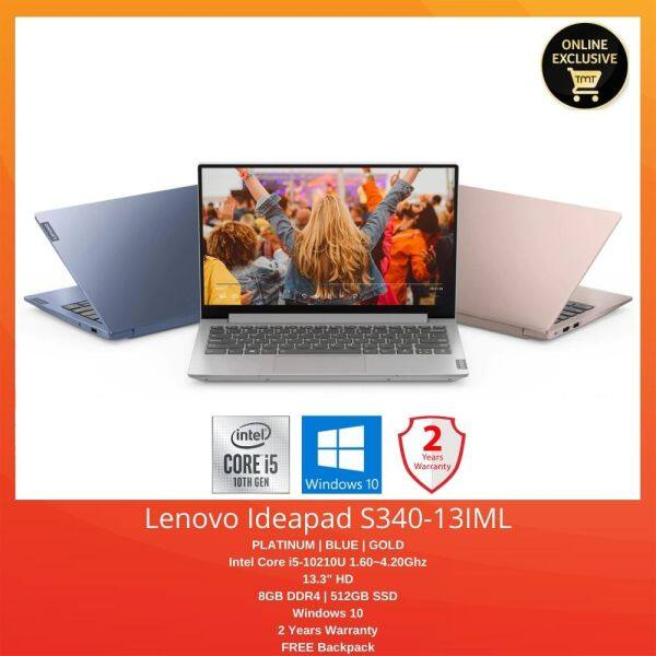 Lenovo Ideapad S340-13IML 81UM001LMJ | i5-10210U | 8GB 512GB SSD | 13.3 FHD | Windows 10 Malaysia