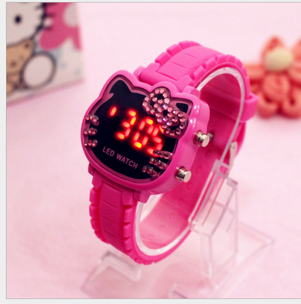 Smart ME Kids Digital Watch Hello Kitty with diamond Crystal Malaysia
