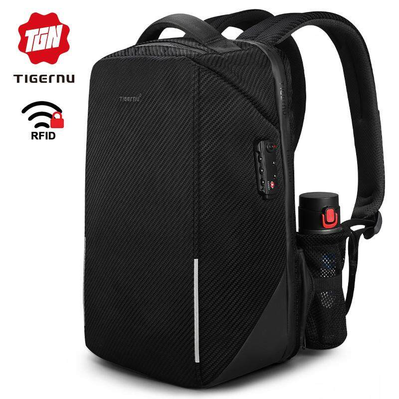 cb12112042 2019 Tigernu RFID 15.6 inch Laptop Backpack TSA Lock Anti Theft Splashproof  Business Men Backpacks Bag