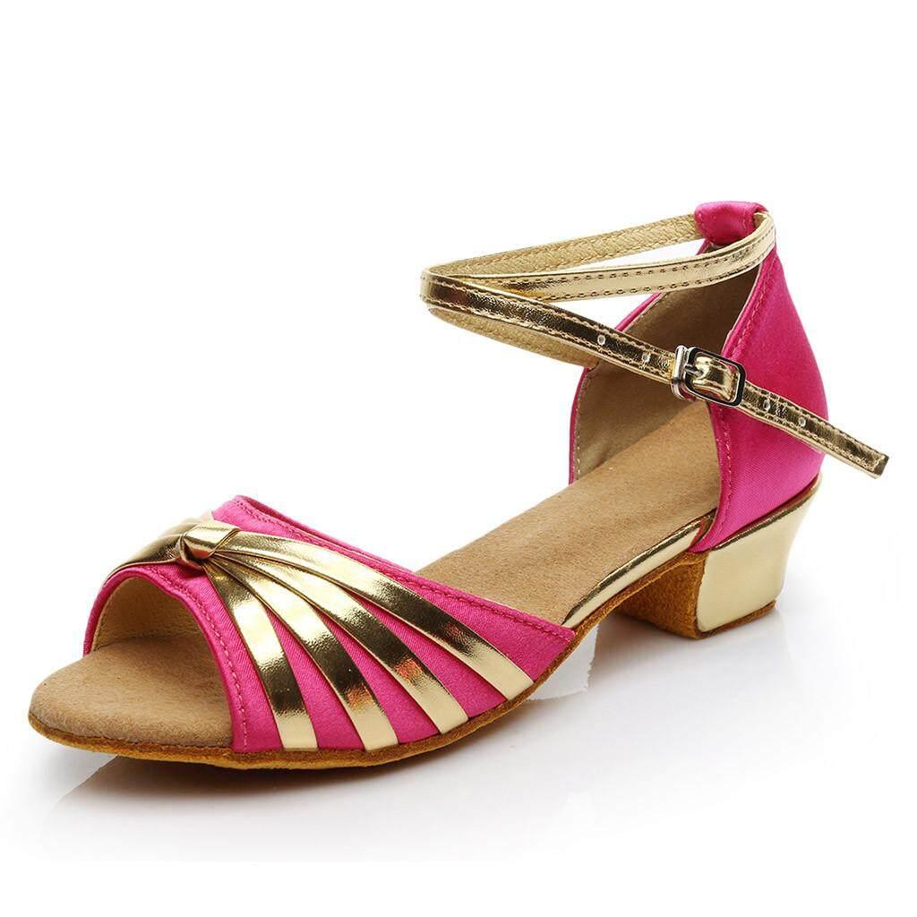 673a22a5329 New Toddler Baby Kids Girls Princess Dancing Ballroom Tango Latin Shoes  Sandals