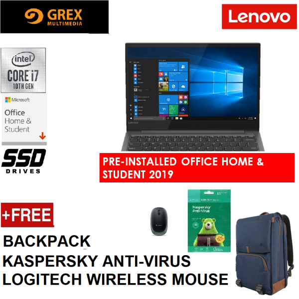 LENOVO YOGA S730-13IML 81U4000PMJ / 81U4000QMJ (I7-10510U.16GB,512GB SSD,13.3 FHD,INTEGRATED GRAPHIC,WIN10) FREE BACKPACK + KSPSKY ANTI-VIRUS + LOGITECH WIRELESS MOUSE + PRE-INSTALLED MS OFFICE 2019 - 81U4002MMJ / 81U4002NMJ Malaysia