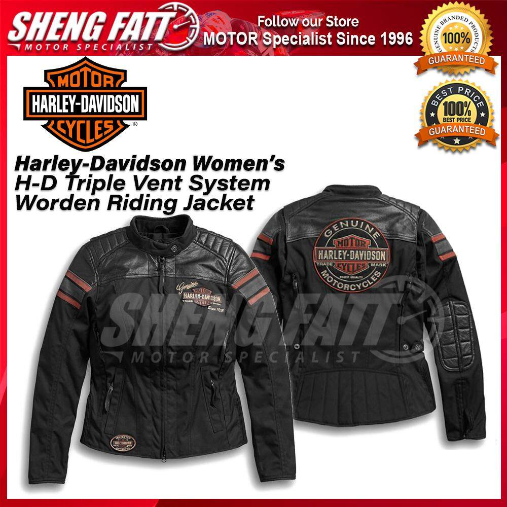 Harley-Davidson Women's H-D Triple Vent System Worden Riding Jacket Black - [ORIGINAL]