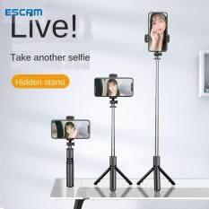 Gậy selfie 3 chân mini ESCAM S03 kết hợp bluetooth có thể thu gọn cho iPhone Samsung Huawei tripod điện thoại chân đỡ điện thoại gậy quay tiktok chân để điện thoại cây chụp hình 3 chân -INTL