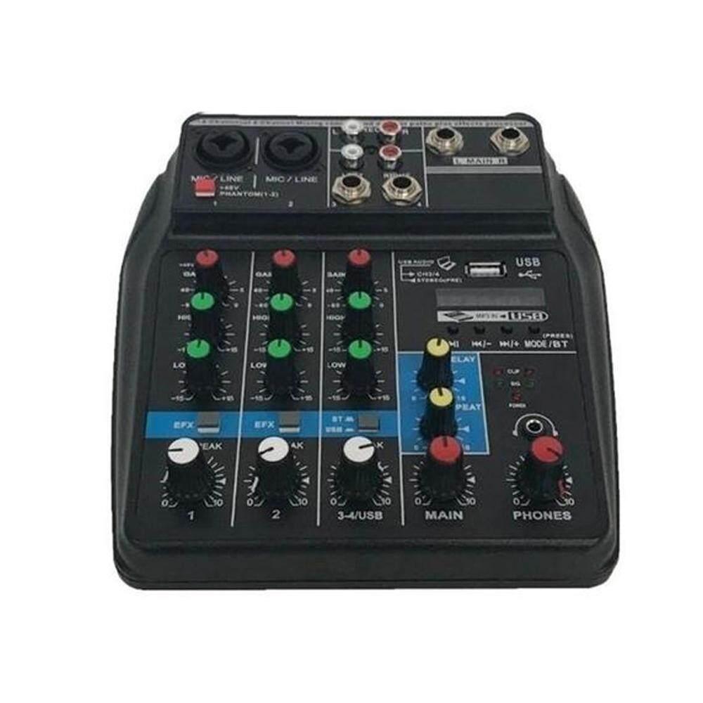 Profesional TU04 Bt Suara Pencampuran Konsol Merekam 48 V Phantom Power Monitor Aux Jalur Ditambah Efek 4 Audio Saluran Mixer dengan USB