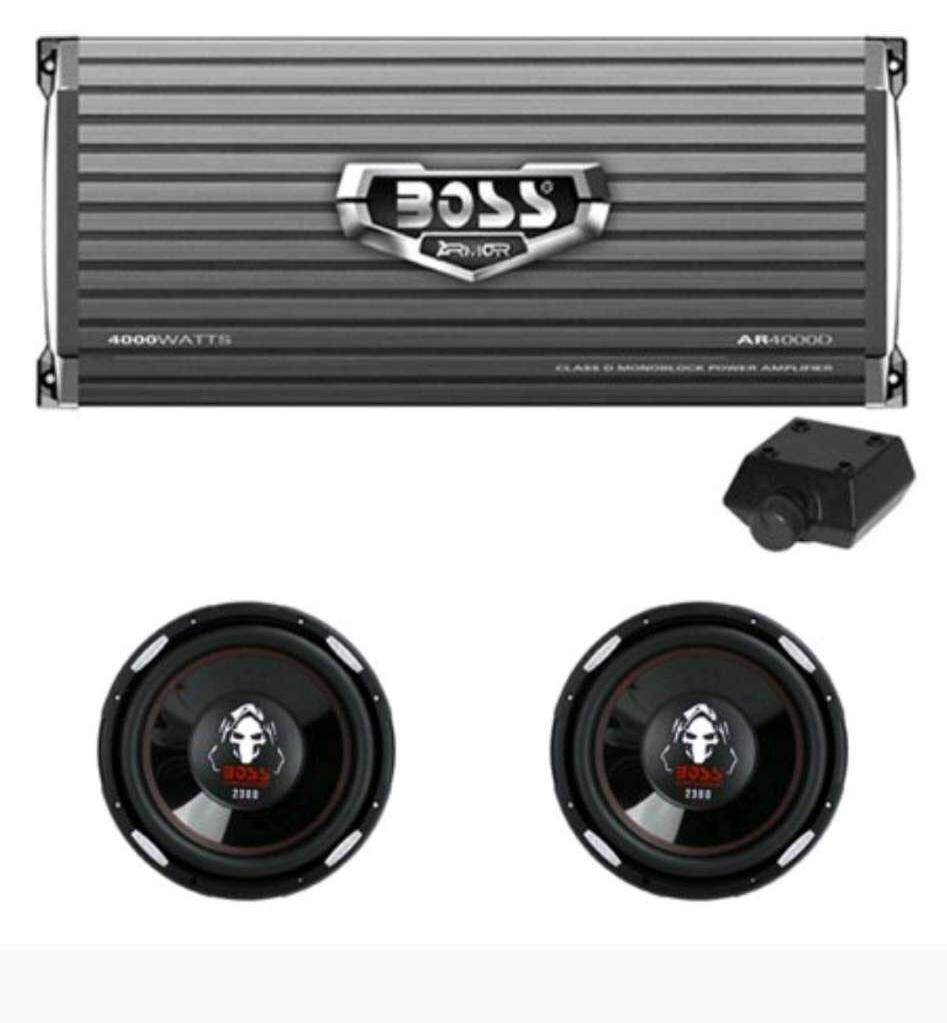 Boss Bx55 2 3 Way Car Audio Electronic Crossover Bass W Remote Control