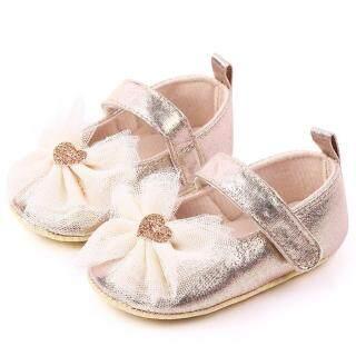 Liuyehumall Giày Bé Gái Giày Trẻ Em Tập Đi Thời Trang Thắt Nơ Bướm Thoải Mái thumbnail