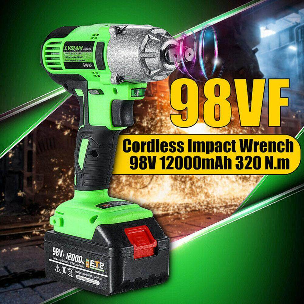 25800mAh 98VF LED Lighting Rechargeable Brushless Cordless Electric Impact Wrench(US Plug)