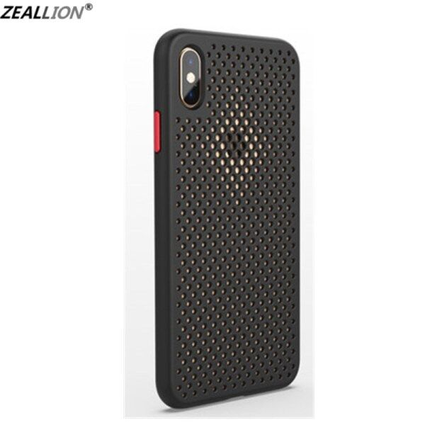 Ốp Zeallion Cho Điện Thoại Apple Ốp Lưng Silicon Lưới Tản Nhiệt Mát Mẻ Mùa Hè Màu Kẹo Mềm Thoáng Khí TPU Bảo Vệ Chống Sốc Cho iPhone 6 6S 7 8 Plus X XR XS 11 Pro Max