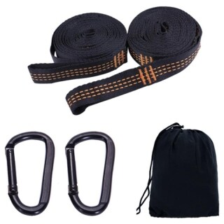 2Pcs Super Strong Hammock Strap Belt ,Comes with 2 Carabiner Traveling Portable Hanging Tree Rope thumbnail