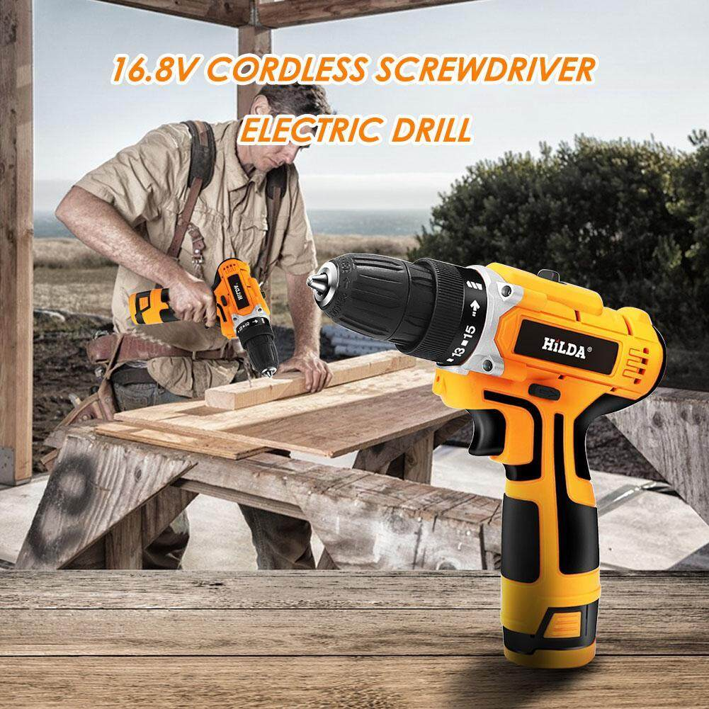 [HOSPORT] 16.8V 340W Cordless Electric Screwdriver Mini Hand Power Drill w/Light
