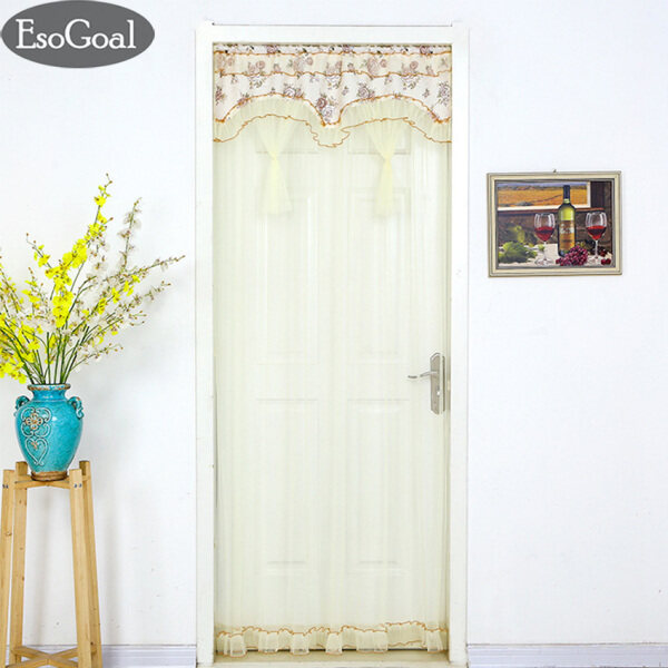 EsoGoal Screen Door Fly Mosquito Bug Insect Screen with Easy Installation Velcro Decoration Door Curtain Lace curtain
