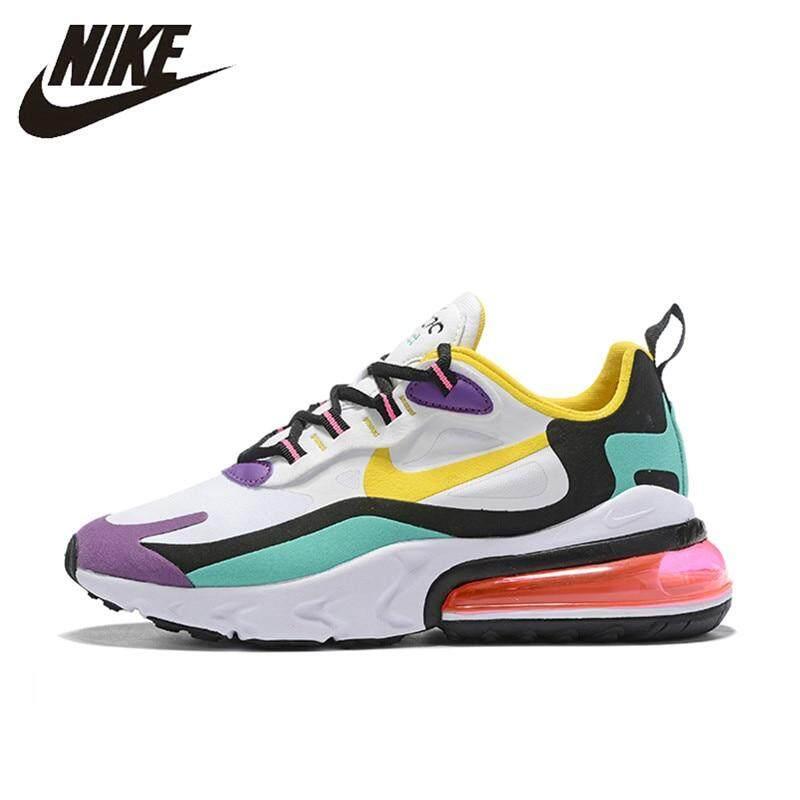 Nike_Air_Max 270 Phản Ứng Chạy Bộ Nữ Không _ Đệm Ngoài Trời Giày Thể Thao Sneaker Thoải Mái AT6174-002 Với Giá Sốc