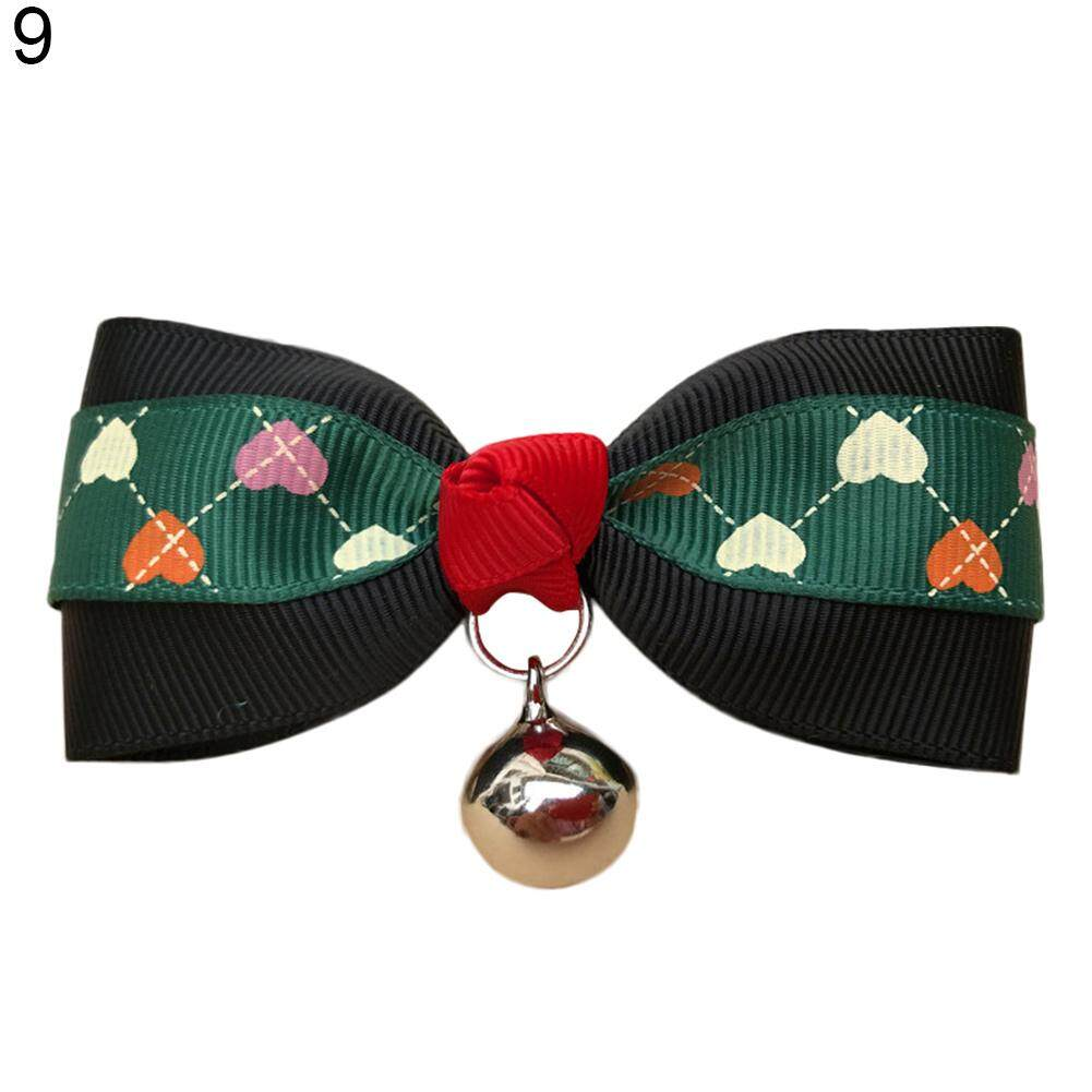 Westcoolpet Bowknot Metal Bell Pendant Fashion Printed Pet Dog Cat Puppy Bow Tie Collar By Westcoolpet.