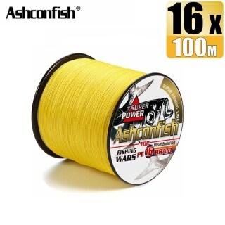 Ashconfish Dây Câu Cá Bện Rỗng 100M 16 Sợi Dây Nhựa PE Ghép X16 Siêu Mạnh 20-500LB Màu Vàng thumbnail