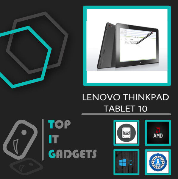 LENOVO THINKPAD ULTRABOOK TABLET 10 SURFACE DESIGN FHD TOUCHSCREEN - INTEL ATOM X7-Z8700 QUAD CORE 8TH GENERATION INTEL HD GRAPHICS / 4GB DDR3 RAM / 128GB SSD / 10.1 INCH / WINDOW 10 PRO / 6 MONTHS WARRANTY [ LAPTOP / TABLET PC ] Malaysia