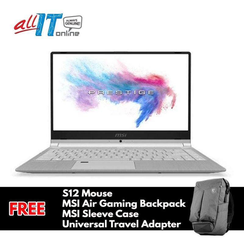 MSI PS42 8M-432MY 14 FHD Notebook Silver [i7-8550U, 8GB, 256GB, Intel, W10H] **FREE S12 Mouse + MSI Gaming Air Backpack + MSI Sleeve + Universal Travel Adapter** Malaysia