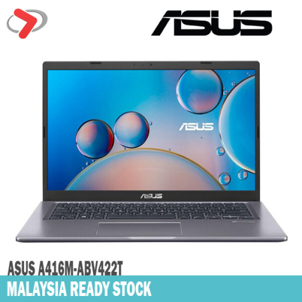 ASUS A416M-ABV422T (Grey) | Intel® Celeron® N4020, 4GB DDR4, 256GB SSD, 14 Inch Display, Preloaded W10 Home - Include Backpack [ GIA ] Malaysia