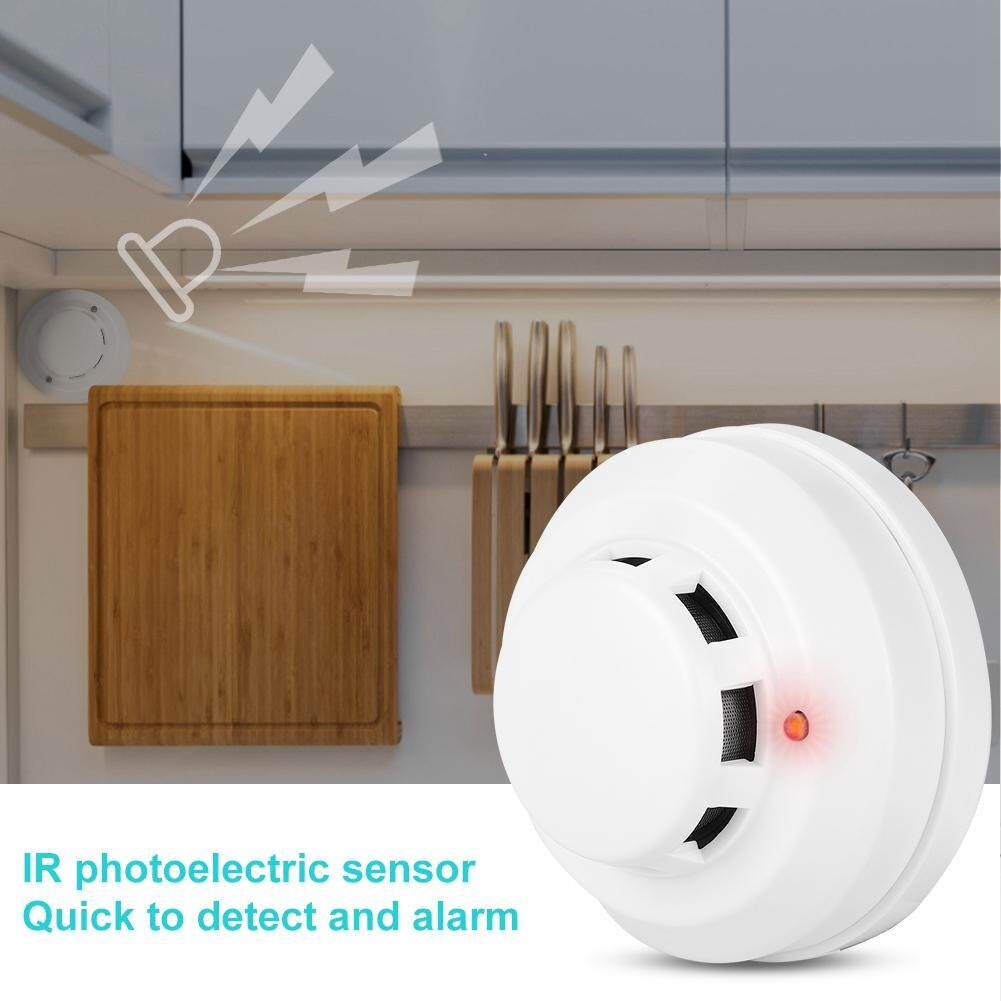 Wired Network Photoelectric Smoke Detector IR Alarm Fire Security