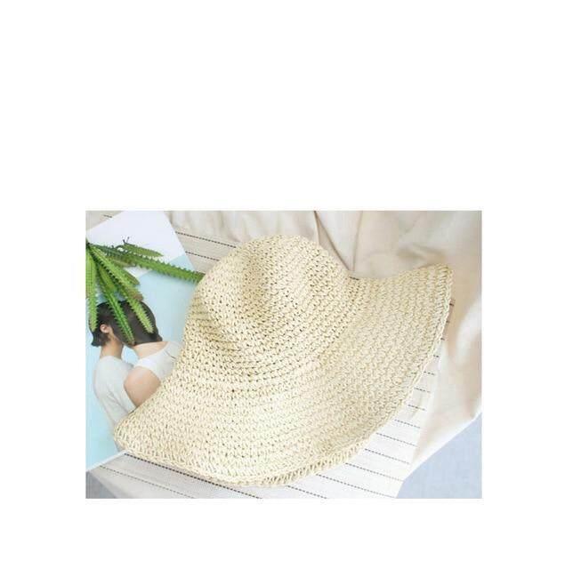 libao WOMEN Summer Hats Sun Beach Panama Straw hat Wide Wave Brim Folded Outdoor CAPS Leisure Holiday Raffia Cap visors hat