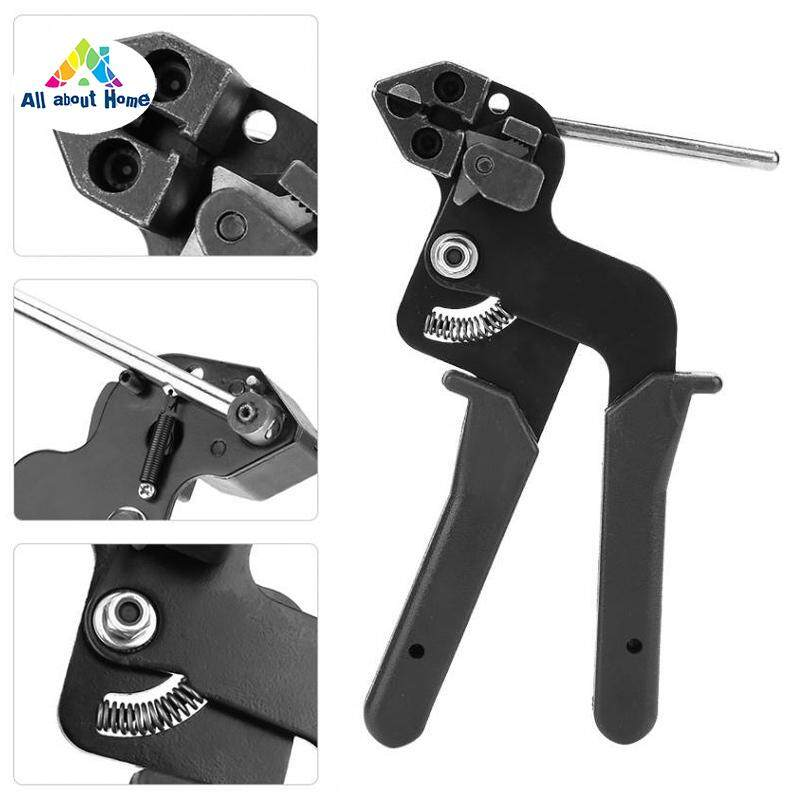 ABH Stainless Steel Metal Cable Tie Fasten Pliers Crimper Tensioner Cutter Tool