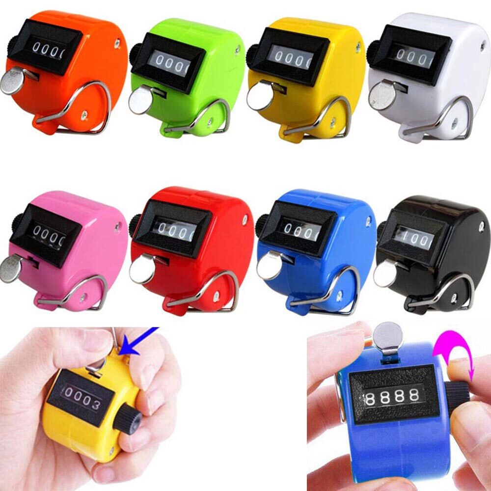 Counter Manual 4 Digital Counting Tally Counter Count Number Handheld