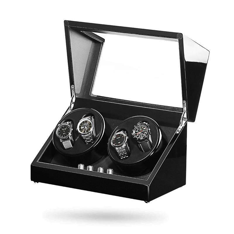 Maselex Automatic Quad Watch Winder 4+0 Storage with Double Quiet Mabuchi Motors 10 Working Modes Malaysia