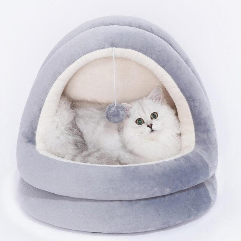 Tổ Yến Cho Mèo, Biệt Thự Khép Kín Giường Nằm Cho Mèo Cưng Chó Nhỏ Quanh Năm, Tổ Súc Miệng