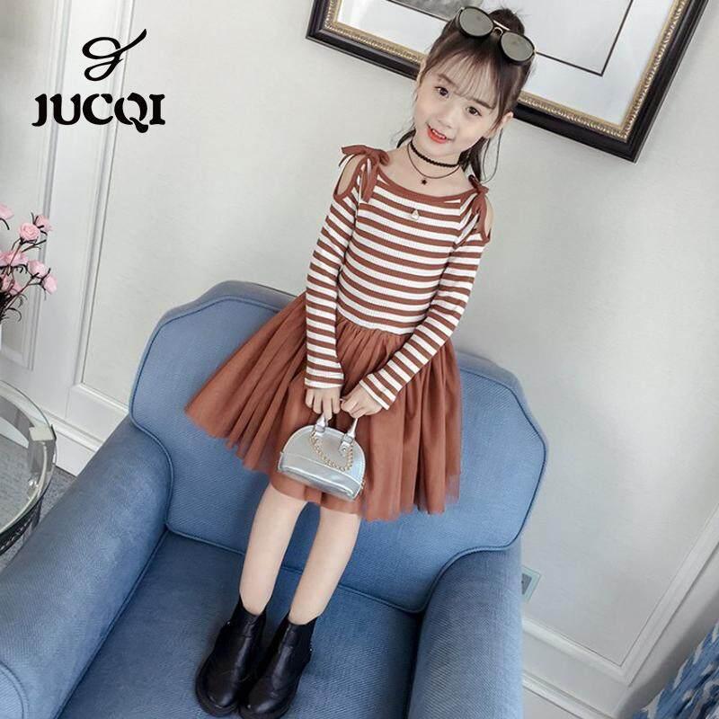 Giá bán JUCQI Nữ Thời Trang mùa xuân và áo thu đông 2019 thời trang Hàn Quốc mới trẻ em công chúa đen chân váy lưới