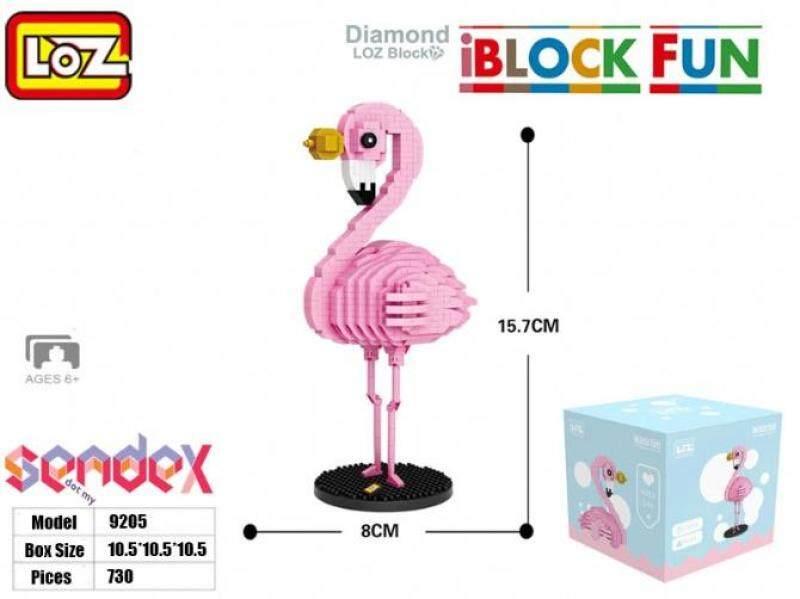 LOZ IBlock Fun 9205 - Flamingo Animal Cartoon 730pcs