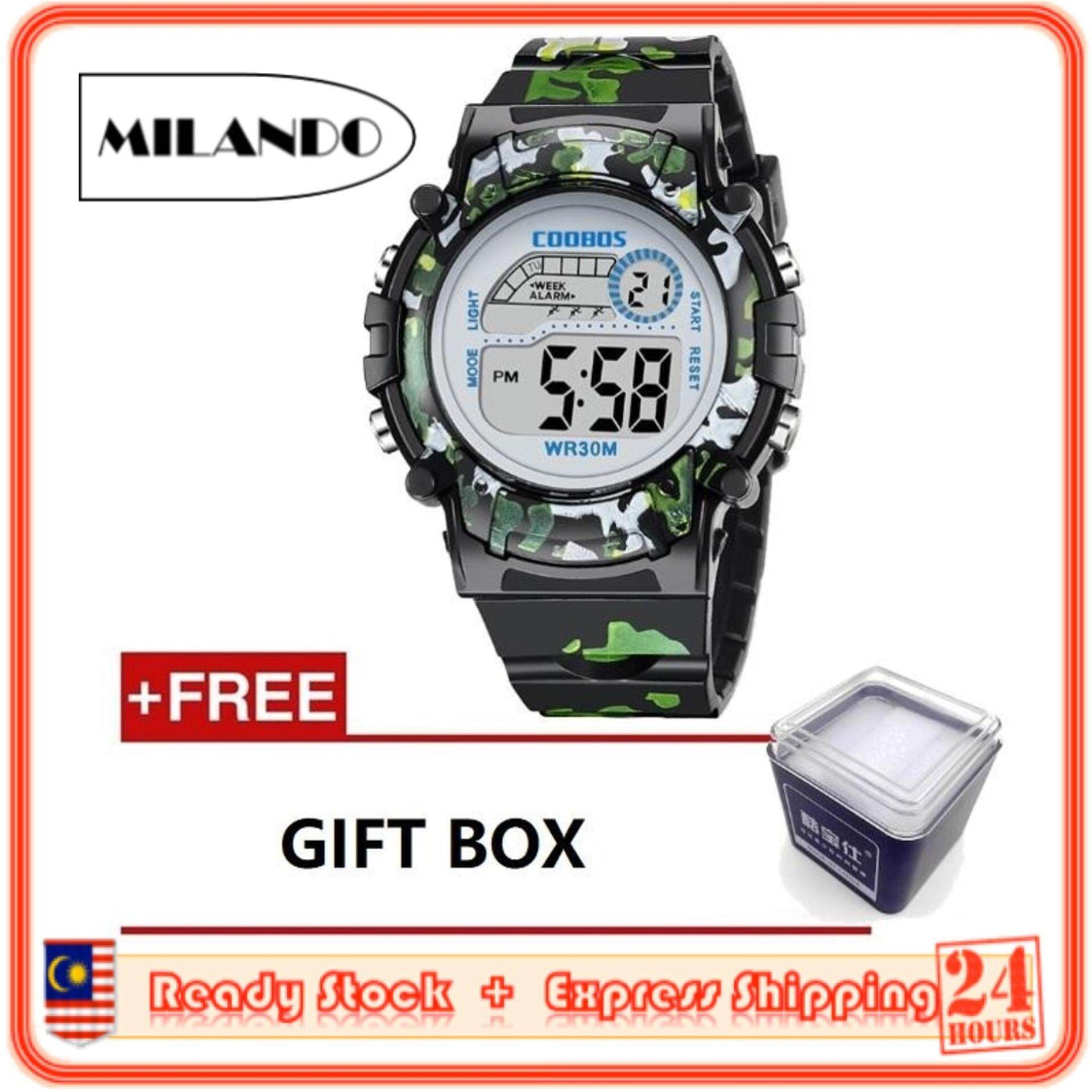 MILANDO Children watches LED Digital Multifunctional 30M Waterproof Outdoor Sports Watch FREE GIFT BOX (Type 3) Malaysia