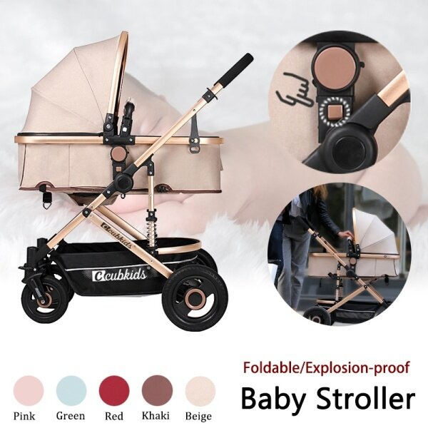 3 IN 1 Foldable Lightweight Explosion-proof Baby Stroller Pushchair Travel System Singapore