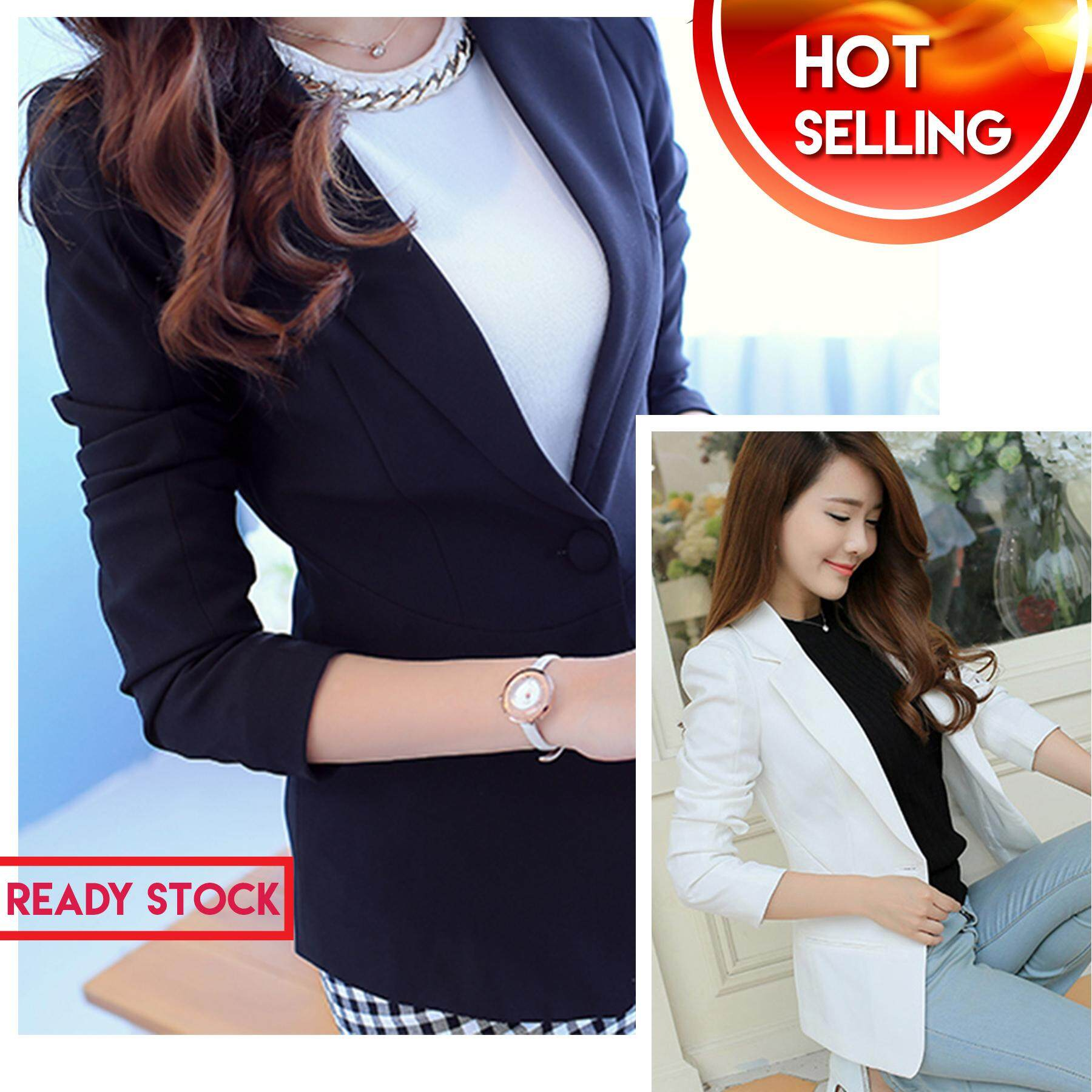 756c627fab 89  READY STOCK  NEW 2019 Women s Slim Fit Stylish One Button Suit Coat  Jacket